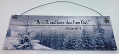 """Be Still and know that I am God"" Snowfall Ornament"