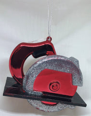 Red Saw Ornament