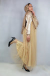 Maria Sequin Tulle Dress Gold