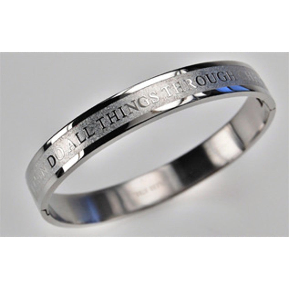 All things through Christ Bangle
