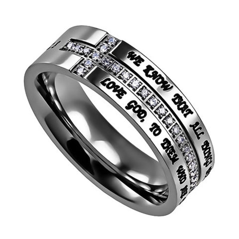 All Things Work Together For Good Scripture Ring