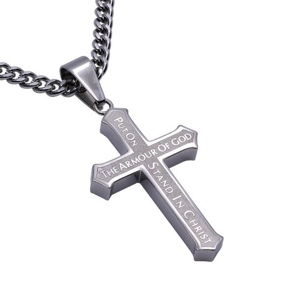 Armour Of God Stainless Steel Cross Necklace With Satin Finish North Arrow Shop 14 an exponential of the conway chained arrow notation? north arrow