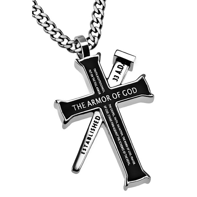 Ephesians 6 10 18 Black Cross And Nail Necklace With Bible Verse Stainless Steel Curb Chain North Arrow Shop 2020 popular 1 trends in jewelry & accessories, home & garden, lights & lighting, watches with arrow pendant chain and 1. north arrow shop