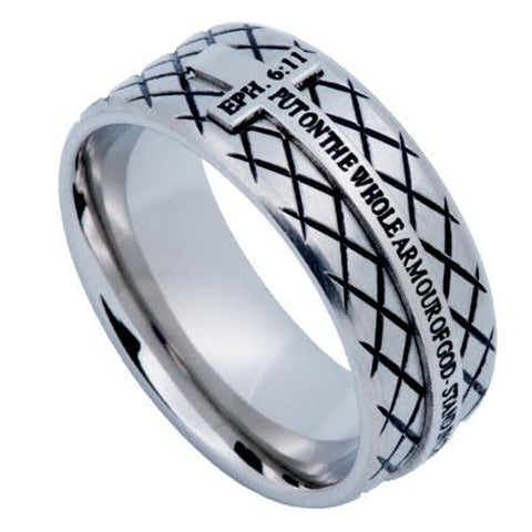 Armor Of God Ring Cross