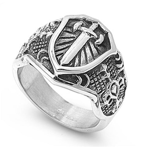 Armor of God Ring Stainless Steel with Jewelry Gift Box