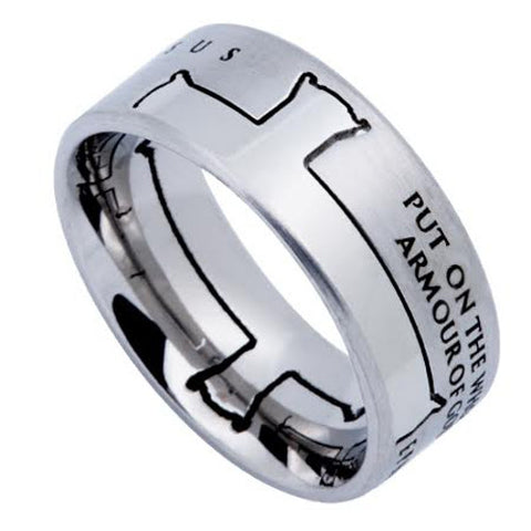Armour Of God Cross Ring