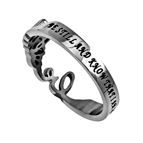Bible Verse Psalm 46:10 Ring