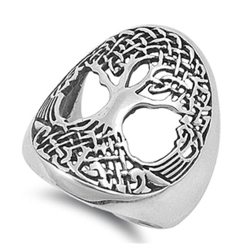 Sterling Silver Tree of Life Ring Big