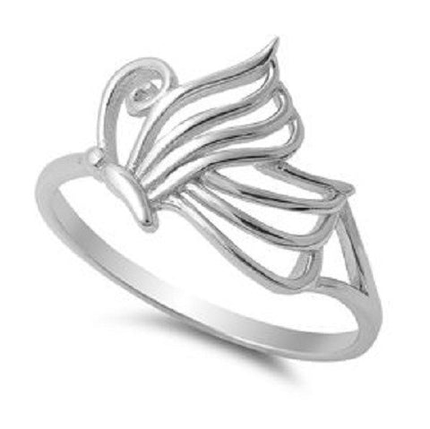 Butterfly Wings Ring, 925 Sterling Silver, Christian Inspired Jewelry