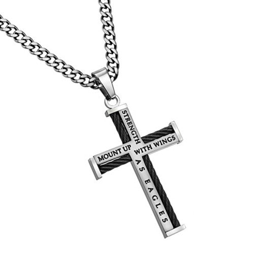 Cable Cross Isaiah 40:31 Jewelry