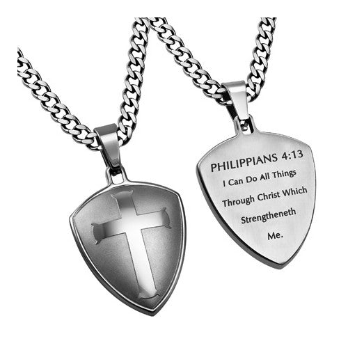 Christ My Strength Philippians Necklace