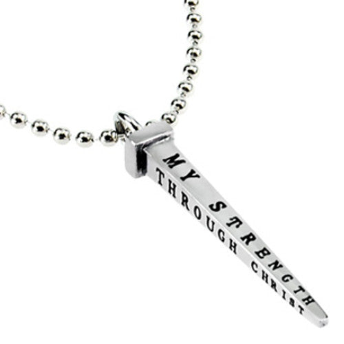 Philippians 4:13 Nail Cross Jewelry