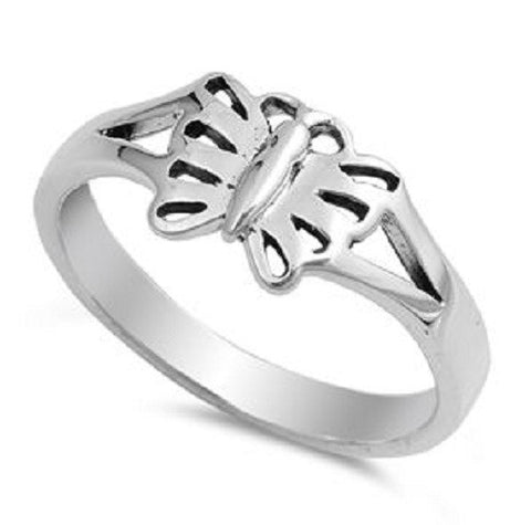 Classy Butterfly Ring, 925 Sterling Silver, Christian Inspired Jewelry