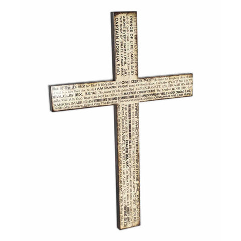 Cross Wall Decoration for Church God's Name