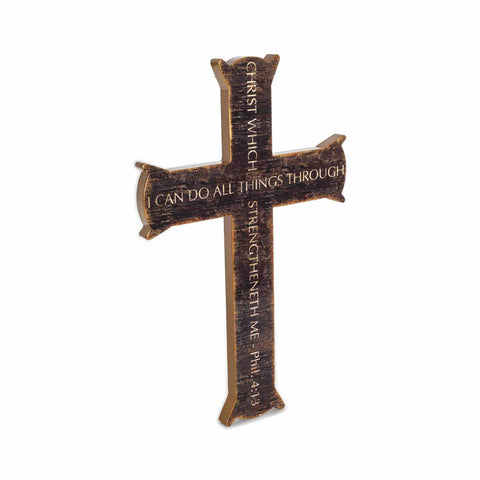 Cross Wall Wood Art PHILIPPIANS 4 13