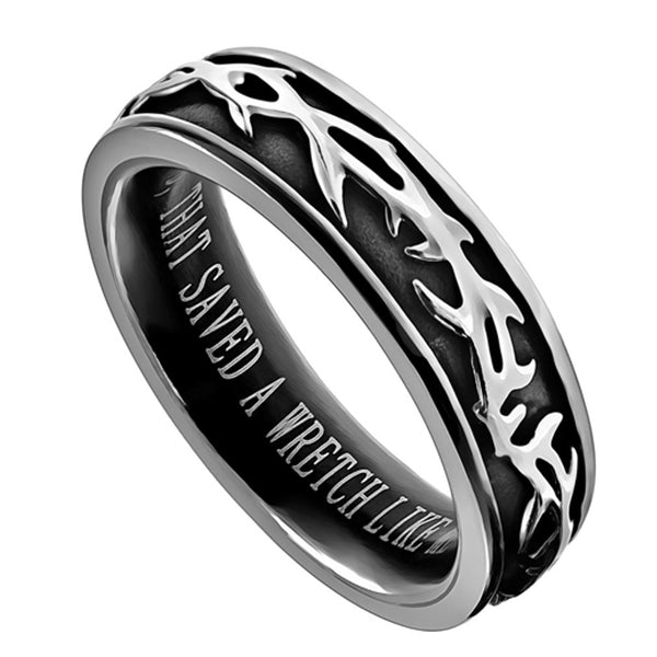 Ephesians 2:8 Amazing Grace Ring
