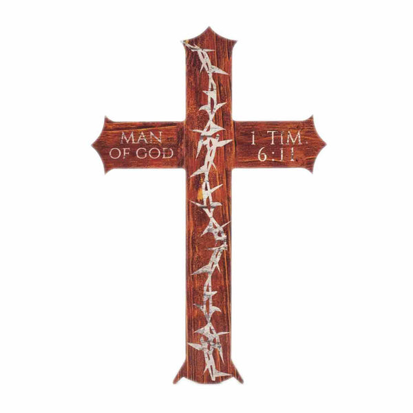 Crown Of Thorns Cross Decoration 1 Timothy 6:11