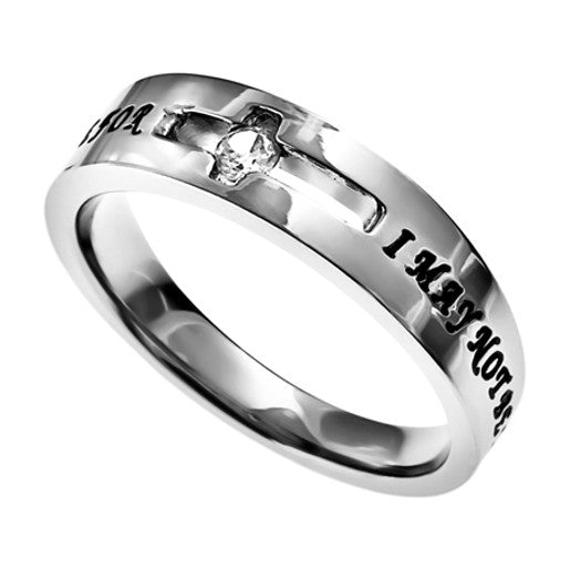 Christian Cut Out Cross Ring