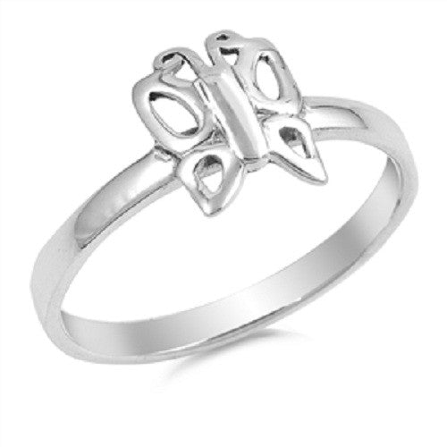 Everyday Butterfly Ring, Sterling Silver, Christian Inspired Jewelry