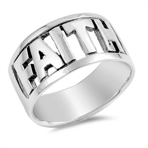 FAITH Word Cutout Ring