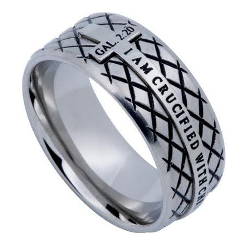 Galatians 2:20 Cross Ring