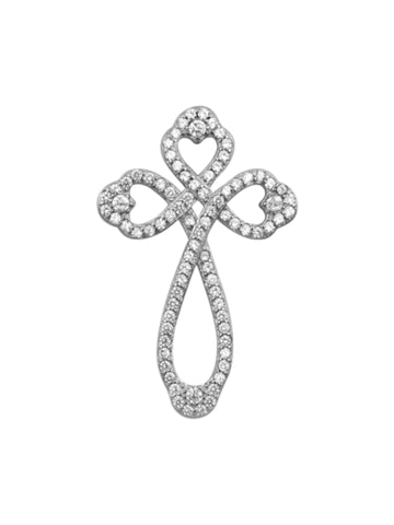 Heart Cross Necklace for Women