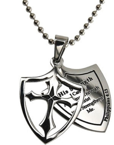 His Strength Philippians Necklace