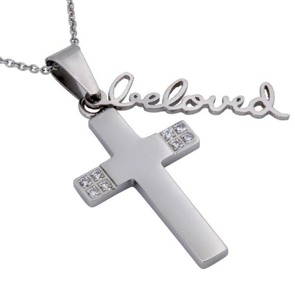 I Am My Beloved Necklace Cross