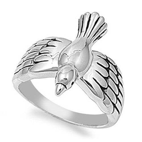 Brass Dove Ring, Christian Inspired with Jewelry Gift Box