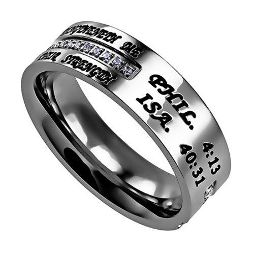 Isaiah 40:31 Jewelry Cross Ring