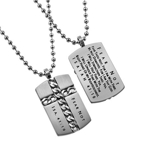 Isaiah 41:10 Necklace Conquer the Fear Bible Verse