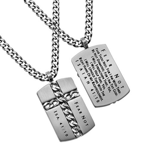 Isaiah 41:10 Necklace Inspirational Jewelry