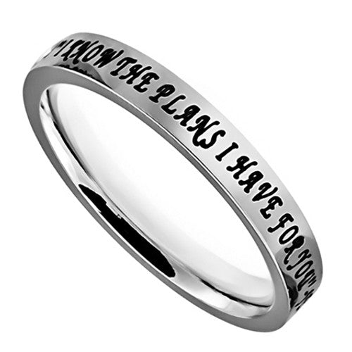 Jeremiah 29 I Know Bible Verse Ring