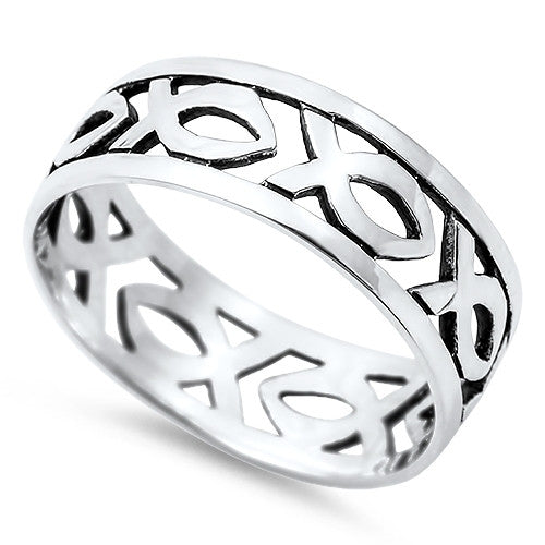 Christian Fish Ring Religious