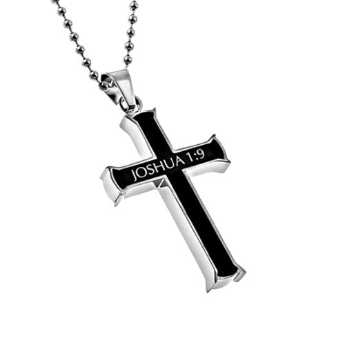 Joshua 1:9 Bible Verse Christian Necklace