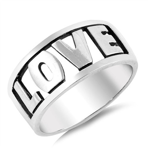 LOVE Word Cutout Ring