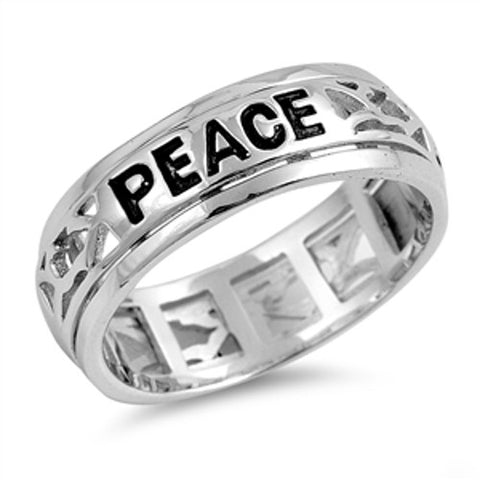 Love Joy Peace Spinner Ring
