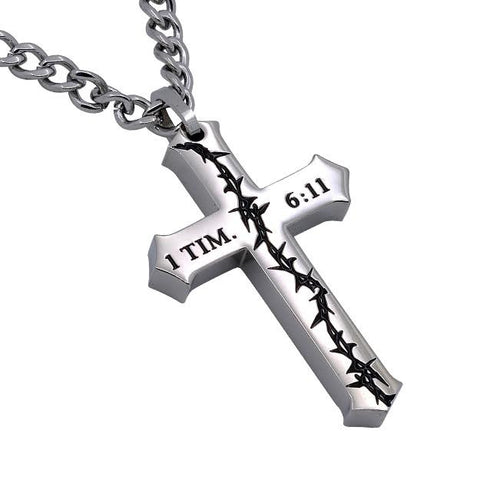 1 Timothy 6:11 Man Of God Necklace