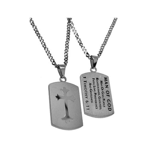 Man Of God 1 Timothy Necklace