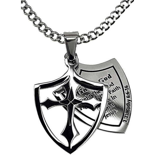 Man Of God Fight 1 Timothy Necklace
