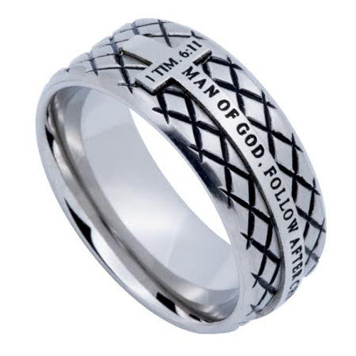 Man of God Cross Ring