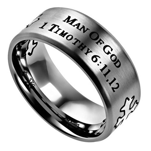 Man Of God Ring with Bible Verse