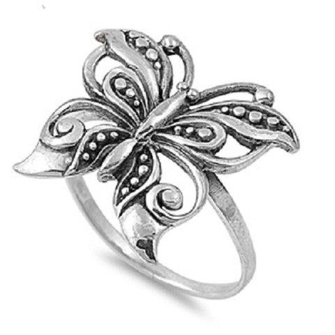Metalmarks Butterfly Ring, 925 Sterling Silver, Christian Inspired Jewelry