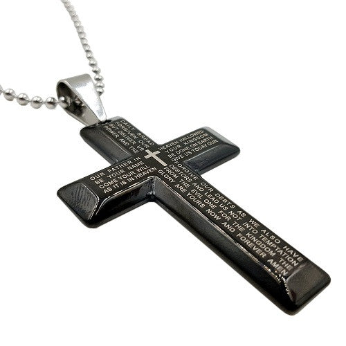 Lords Prayer Necklace Black