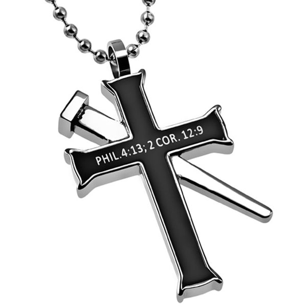 Christ Strength in My Weakness 2 Corinthians Necklace