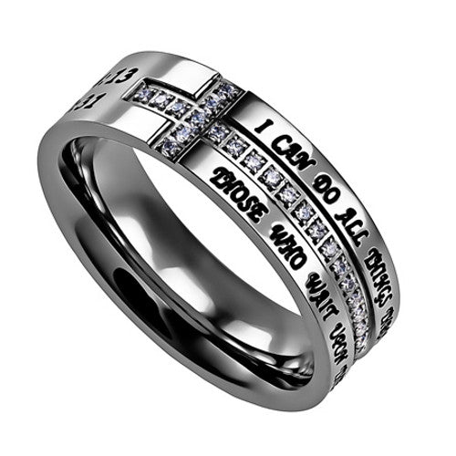 Philippians 4:13 Jewelry Cross Ring