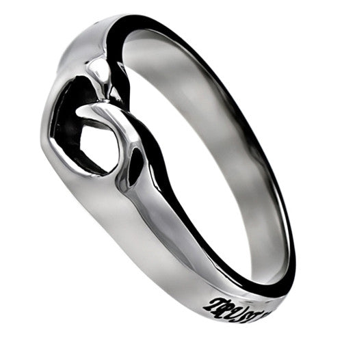 Proverbs 3:5 Heart Ring