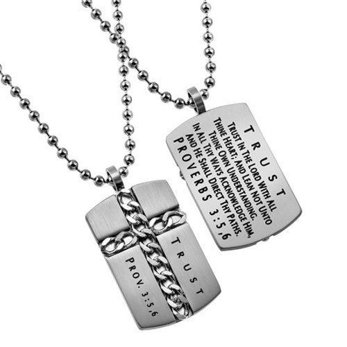 Proverbs 3:5 Necklace