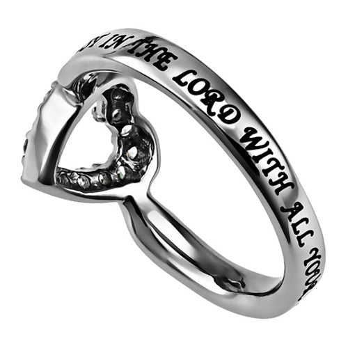 Proverbs 3:5 Ring Trust