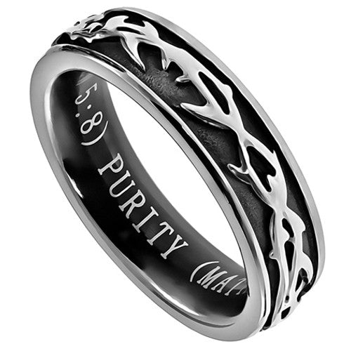 Purity Ring for Girls Crown of Thorns